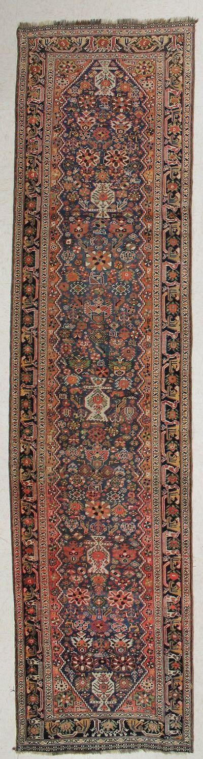 Blue Shiraz Rug #7315 • 3′2″ x 12′7″ • 100% Wool