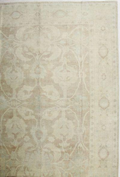 Light Brown Ushak Rug #1800 • 13′3″ x 17′8″ • 100% Wool