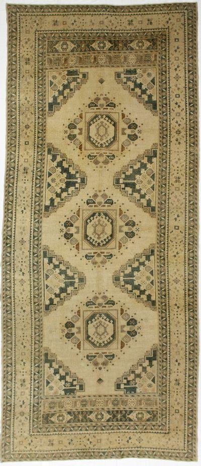 Ivory Konya Rug #979 • 5′4″ x 12′5″ • 100% Wool