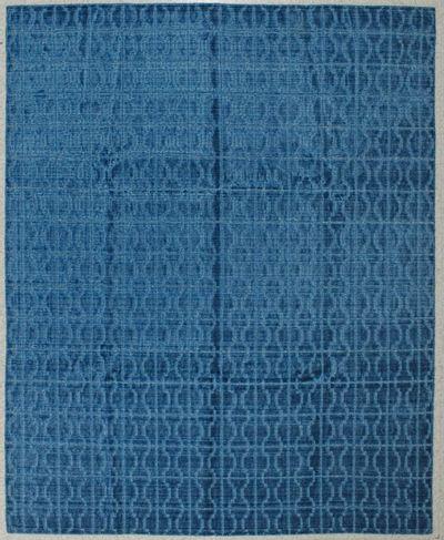 Blue Modern Rug #8103 • 8′0″ x 10′0″ • Wool on Silk