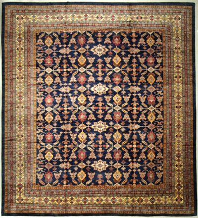 NAVY Kazak Rug #7217 • 15′6″ x 14′3″ • 100% Wool
