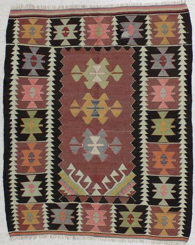 Light Red Kayseri Rug #1519 • 3′3″ x 4′0″ • 100% Wool
