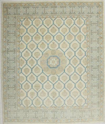 Gold Kothan Rug #6516 • 8′8″ x 10′2″ • Wool on Cotton