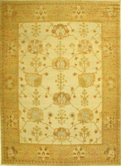 Ivory Gordes Rug #566 • 9′10″ x 13′8″ • 100% Wool