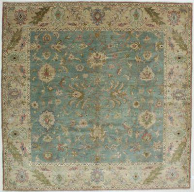 Light Blue Karaman Rug #511 • 9′3″ x 9′2″ • 100% Wool