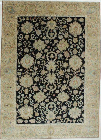 Black Karaman Rug #608 • 9′1″ x 12′8″ • 100% Wool