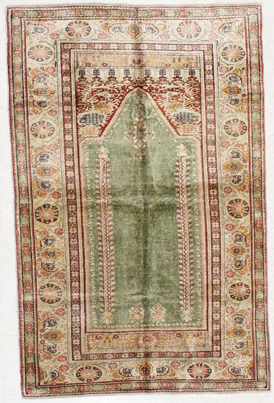 Green Kayseri Rug #1721 • 3′10″ x 5′11″ • 100% Wool
