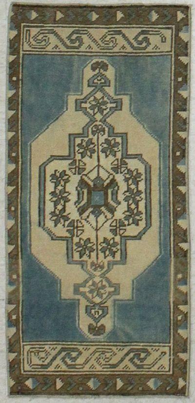 Blue Konya Rug #8112 • 1′6″ x 3′3″ • 100% Wool