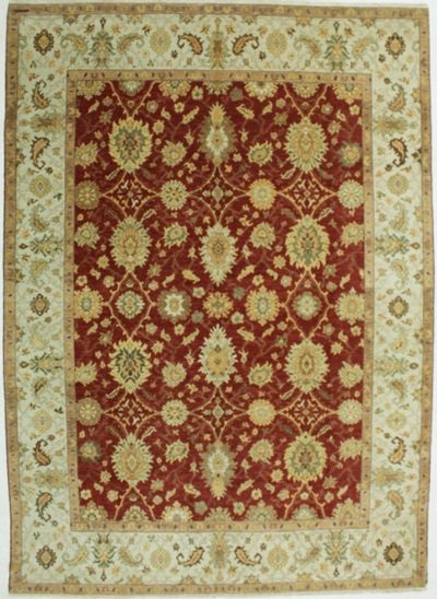 Red Gordes Rug #525 • 9′1″ x 12′8″ • 100% Wool