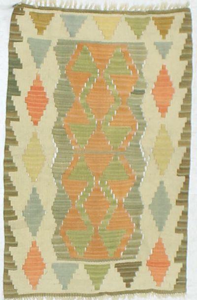 Multicolor Kilim Rug #862 • 2′1″ x 3′1″ • 100% Wool