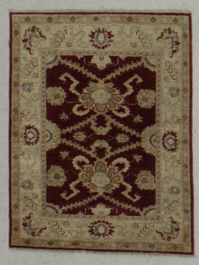 Red Ushak Rug #8804 • 2′9″ x 3′6″ • Wool on Cotton