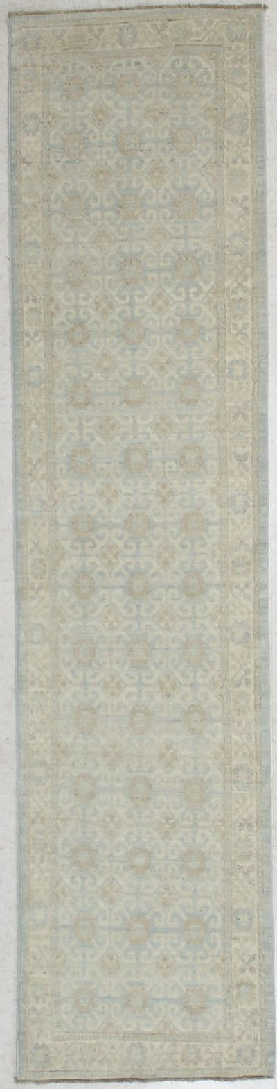 Light Blue Kothan Rug #2844 • 2′5″ x 10′4″ • Wool on Cotton