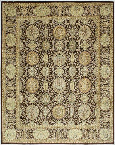 Brown Tabriz Rug #639 • 8′1″ x 10′2″ • Wool on Cotton