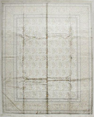 Ivory Cezaevi Rug #1820 • 8′0″ x 9′11″ • 100% Silk