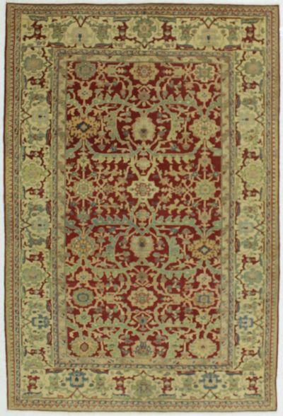 Red Gordes Rug #595 • 6′3″ x 9′3″ • 100% Wool