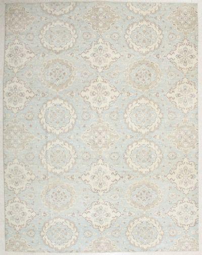 LT BLUE Contemporary Rug #6718 • 8′0″ x 10′2″ • 100% Wool