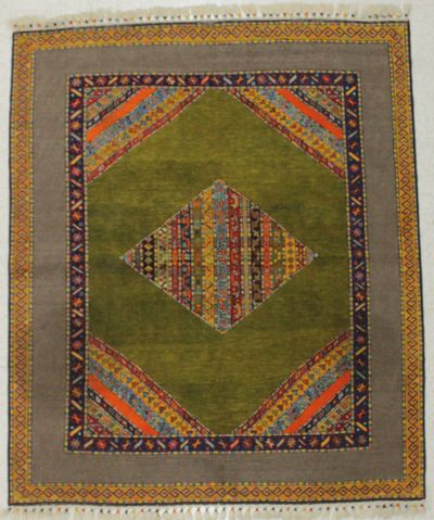 Multicolor Shall Rug #8504 • 5′6″ x 6′6″ • Wool on Cotton