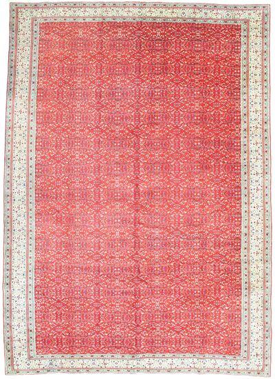 Red Kayseri Rug #2369 • 9′6″ x 13′4″ • 100% Wool