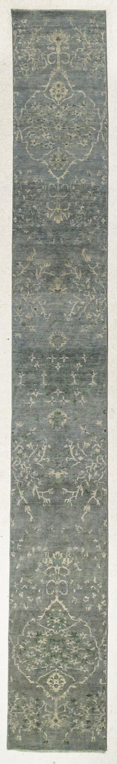 Light Blue Kothan Rug #7685 • 2′7″ x 21′2″ • Wool on Silk