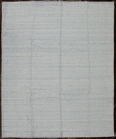 Ivory Modern Rug #8104 • 8′0″ x 10′0″ • Wool on Silk