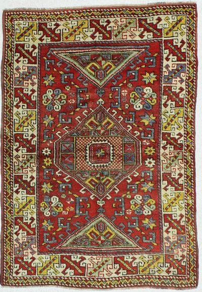 Red Konya Rug #19 • 3′11″ x 5′9″ • 100% Wool