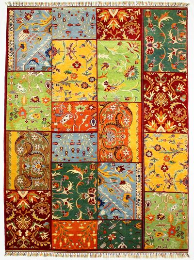 Multicolor Patchwork Rug #328 • 8′0″ x 10′7″ • 100% Wool
