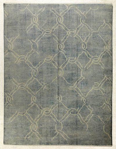 Blue Modern Rug #7808 • 8′0″ x 10′0″ • 100% Wool
