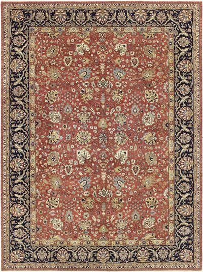 Rust LAVAR Rug #6568 • 8′11″ x 12′1″ • 100% Wool