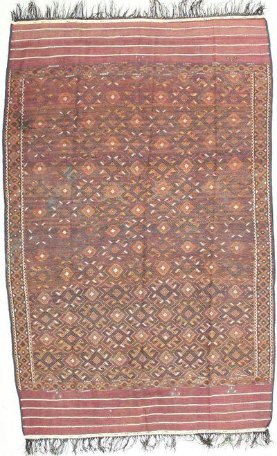 Rust Yamut Rug #1746 • 6′9″ x 10′8″ • 100% Wool