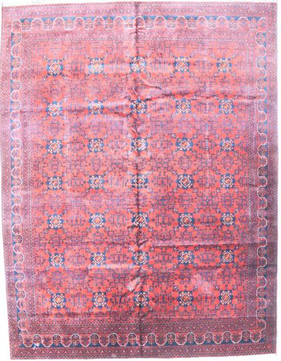 Red Beluch Rug #1785 • 9′11″ x 13′0″ • 100% Wool