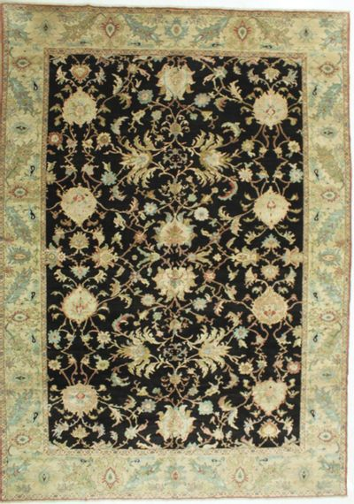 Black Ushak Rug #674 • 10′3″ x 14′5″ • 100% Wool
