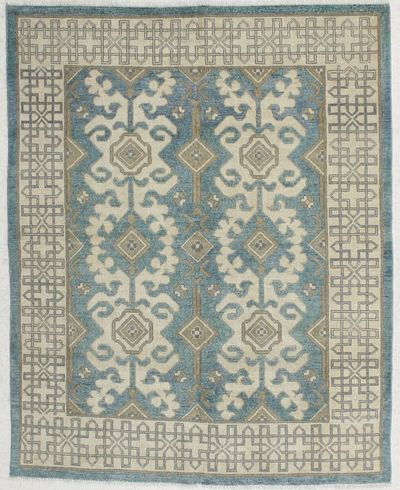 LT BLUE Kothan Rug #6540 • 6′1″ x 4′10″ • Wool on Cotton