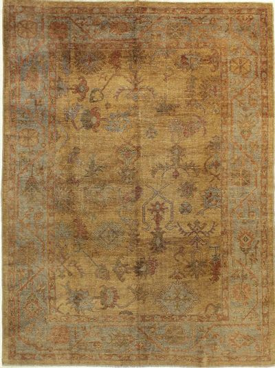 Gold Ushak Rug #706 • 7′11″ x 10′8″ • 100% Wool