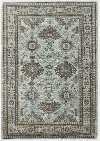 Gray Over Dyes Rug #7255 • 4′0″ x 5′10″ • Wool on Cotton