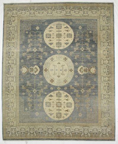 Gray Kothan Rug #8096 • 8′2″ x 10′0″ • Wool on Cotton