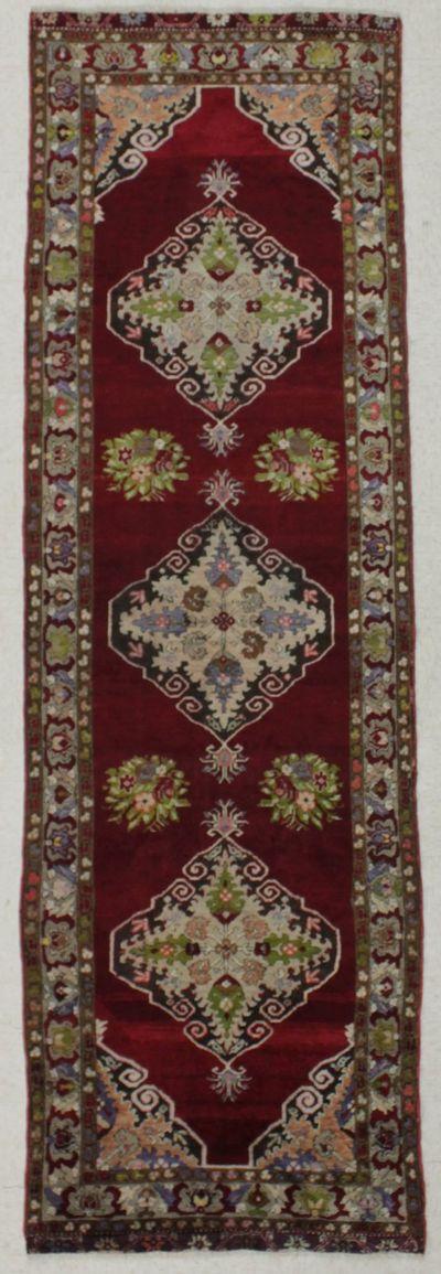 Red Kirsehir Rug #8525 • 3′3″ x 10′8″ • 100% Wool