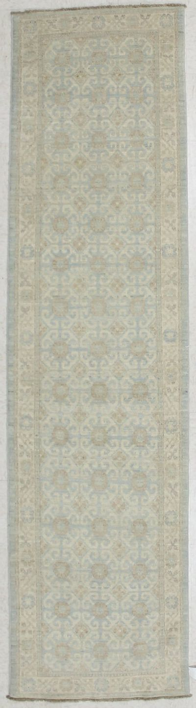 Light Blue Kothan Rug #2843 • 2′8″ x 10′6″ • Wool on Cotton