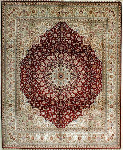 Red IMZALI Rug #2032 • 8′0″ x 10′0″ • 100% Silk