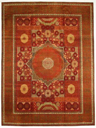 Red Ottoman Rug #8736 • 10′11″ x 14′7″ • 100% Wool