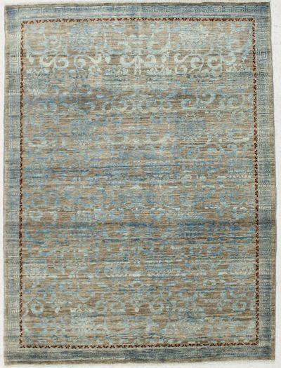 Gold BAMIYAN Rug #2420 • 5′1″ x 6′9″ • 100% Wool