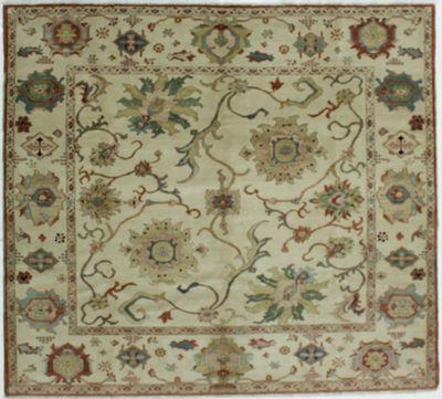 Ivory Karaman Rug #509 • 8′0″ x 7′3″ • 100% Wool
