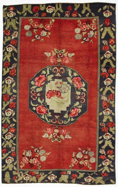Red Konya Rug #7976 • 5′8″ x 9′0″ • 100% Wool