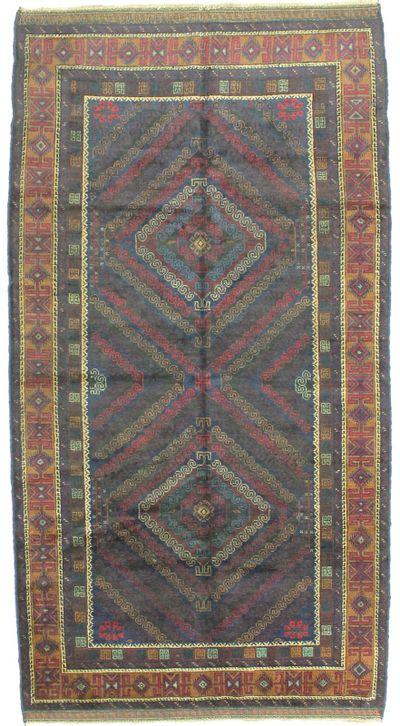 NAVY Beluch Rug #1734 • 4′8″ x 8′5″ • 100% Wool
