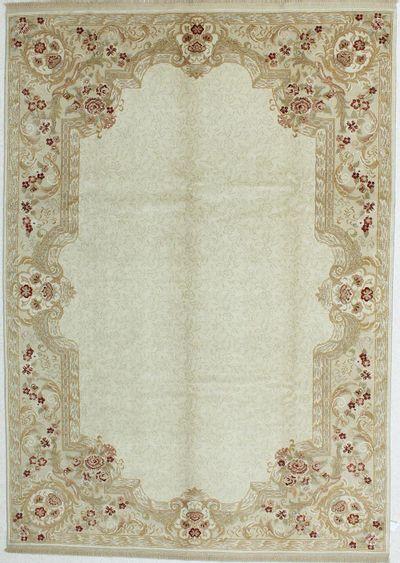 Ivory Ushak Rug #390 • 7′3″ x 10′3″ • 100% Wool