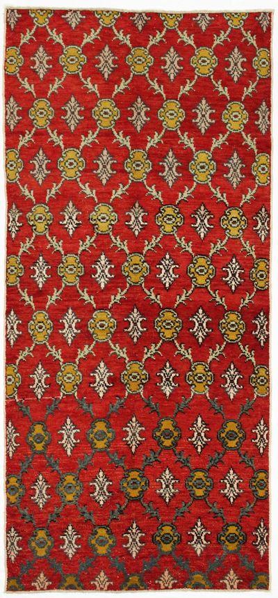 Red Konya Rug #74 • 3′11″ x 8′5″ • 100% Wool