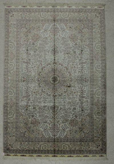 Ivory Cezaevi Rug #7830 • 6′0″ x 9′0″ • 100% Silk