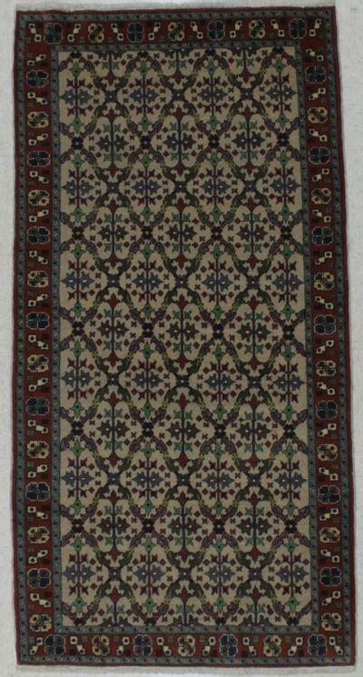 beige Kayseri Rug #8325 • 3′3″ x 6′6″ • Wool on Cotton