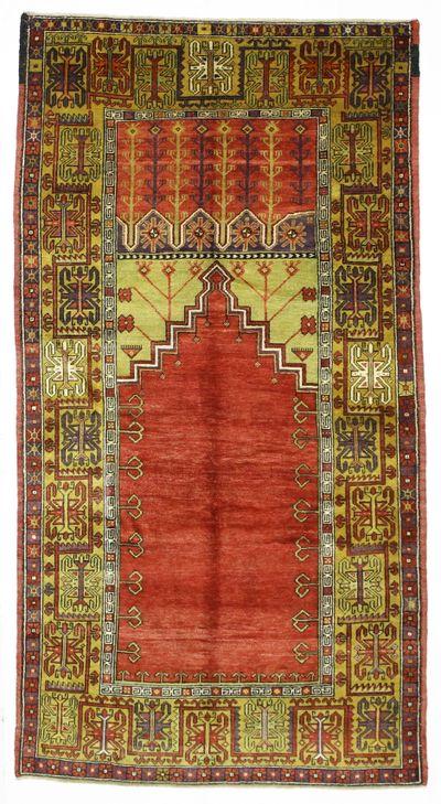 Red Konya Rug #1000 • 5′2″ x 9′10″ • 100% Wool