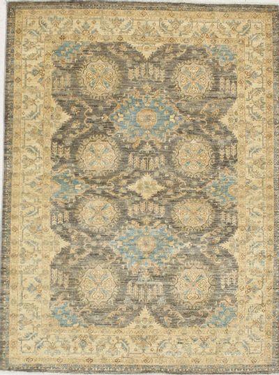 Brown Ushak Rug #7134 • 5′3″ x 7′0″ • 100% Wool