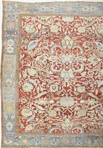 Red SULTAN Rug #7498 • 12′10″ x 14′10″ • 100% Wool